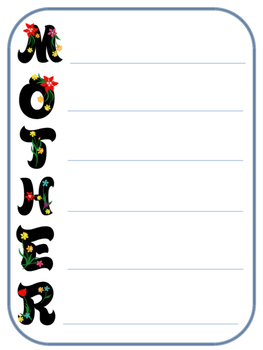Mother's Day Acrostic Poem
