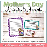 Mother's Day Gift and Activities- Letters, Coupons, and Awards!