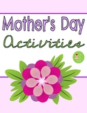 Mother's Day Activities & Gifts! Similes, Coupon Book, Cook book, and more!