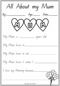 photograph relating to Mothers Day Printable Activities named Moms Working day Worksheets QLD Newcomers Font