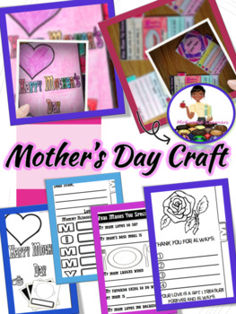 Mothers Day Craft, Mothers Day Activities (Tab Booklet)