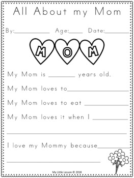 graphic relating to All About My Mom Printable identify Moms Working day Functions: Worksheets