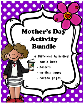 Mother's Day Activity Bundle - 4 different printable activities!
