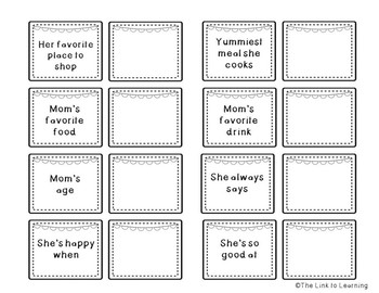 Mother's Day Activity - Make a Matching Questionnaire Game!