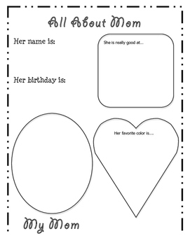 Mother's Day Activity Pages