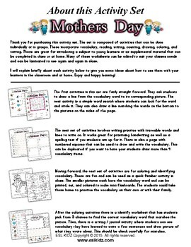 Mother's Day Activity Set