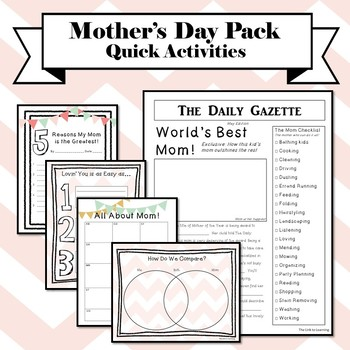 Mother's Day Activities - quick!