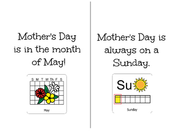 Mother's Day-Adapted Book for Students with Disabilities