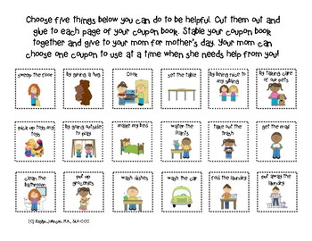 Mother's Day: Adaptive Coupon Book