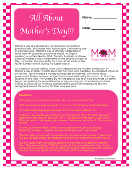 Mother's Day FREE // All About Mother's Day