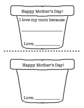 """Mother's Day, """"All About My Mom"""" Journal and Craft Activity"""