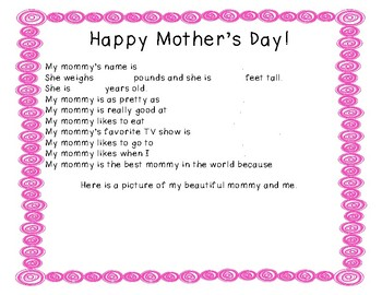 Mother's Day All About My Mommy