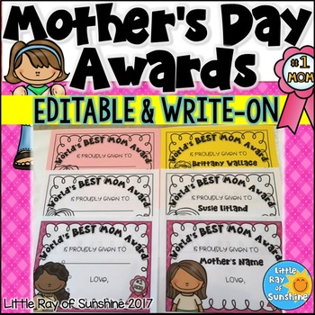 Mother's Day Awards EDITABLE & WRITE-ON