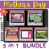 Mother's Day BUNDLE 5 in 1 - Boom Cards Distance Learning