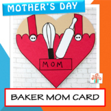 Mother's Day Card - Baker Mom Heart Card