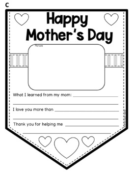 Mother's Day Writing - Set of 4 Writing Banners