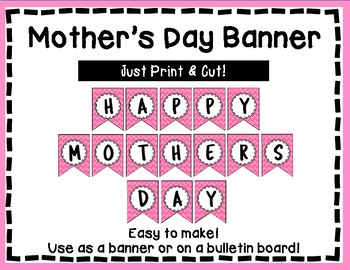 Mother's Day Banner - Bulletin Board