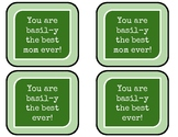 Mother's Day Basil Plant Tags
