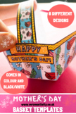 Mother's Day Basket Craft Templates
