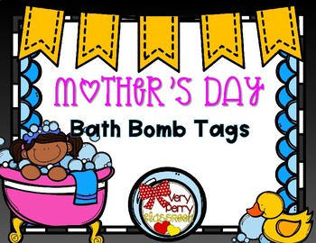 Mother's Day Bath Bomb Tags