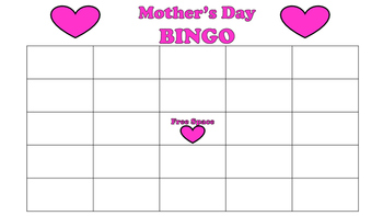 Mother's Day Bingo