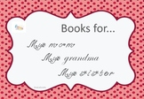 Mother's Day Book - Books for my mom, my granny, my sister