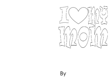 Mother's Day Book Template and Writing Template with a Gra