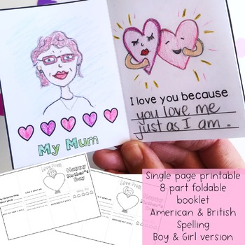 Mother's Day Foldable Booklet Free Download