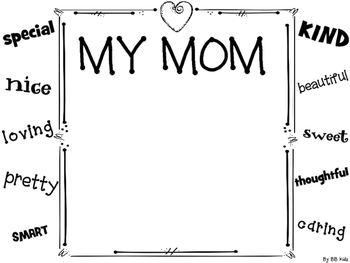 Mother's Day Booklet and Craft for Kindergarten