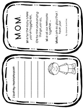 Mother's Day Booklet with Editable Page