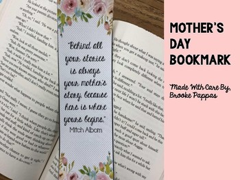 Mother's Day Bookmark Gift