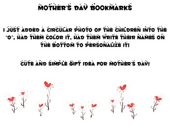 Mother's Day Bookmark Gift Project
