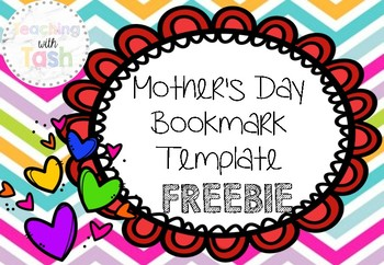 Mother's Day Bookmark Template FREEBIE