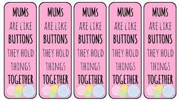 Mother's Day Bookmarks!