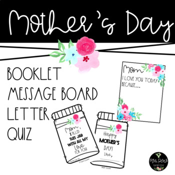 Mother's Day Bundle: Dry Erase Message Board, Booklet and More