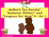 "Mother's Day Bundle! ""Sentence Starters"" & ""Coupons for Mom""!"