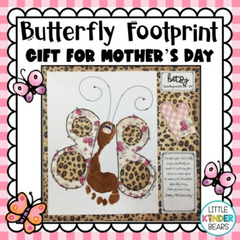 Mother's Day Butterfly Footprint Craft