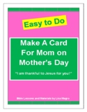 """Mother's Day Card Activity  - """"Happy Mother's Day"""""""