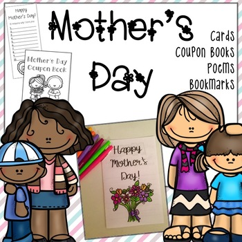 Mother's Day: Card, Bookmark, Poem and Coupon Book