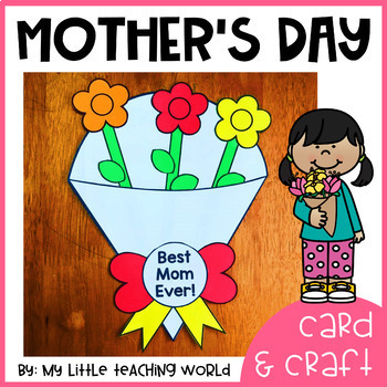 Mother's Day Card & Craft Flower Bouquet