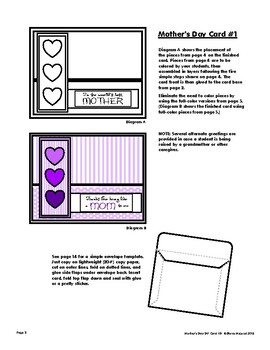 Mother's Day Card Kit with Three DIY Card Templates