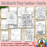 Mother's Day Card Letter Writing Coloring Activity SET