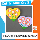 Mother's Day Craft - Mother's Day Card - Heart Flower Card For Mom And Mum