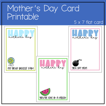 photo regarding Printable Card Stock identified as Moms Working day Card Printable print upon letter sized white card inventory 5x7 flat