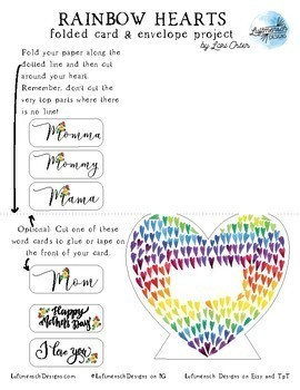 Mother's Day Card Project with Envelope Template