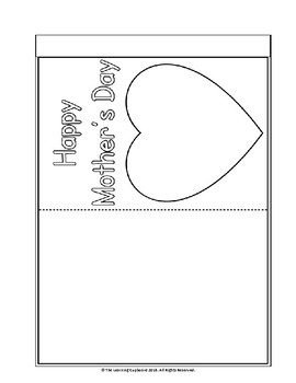 Mother's Day Card Template!