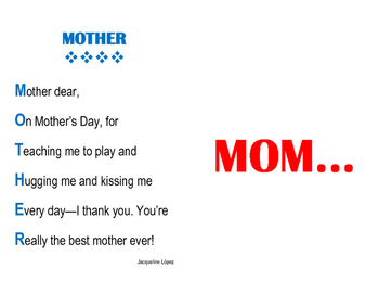 Mother's Day Card - Template - FREEBIE
