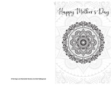 Mother's Day Card Template Mandala