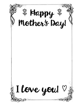 Mothers day card template with frame by ella lozon tpt mothers day card template with frame maxwellsz