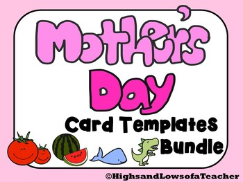 Mother's Day Card Templates BUNDLE